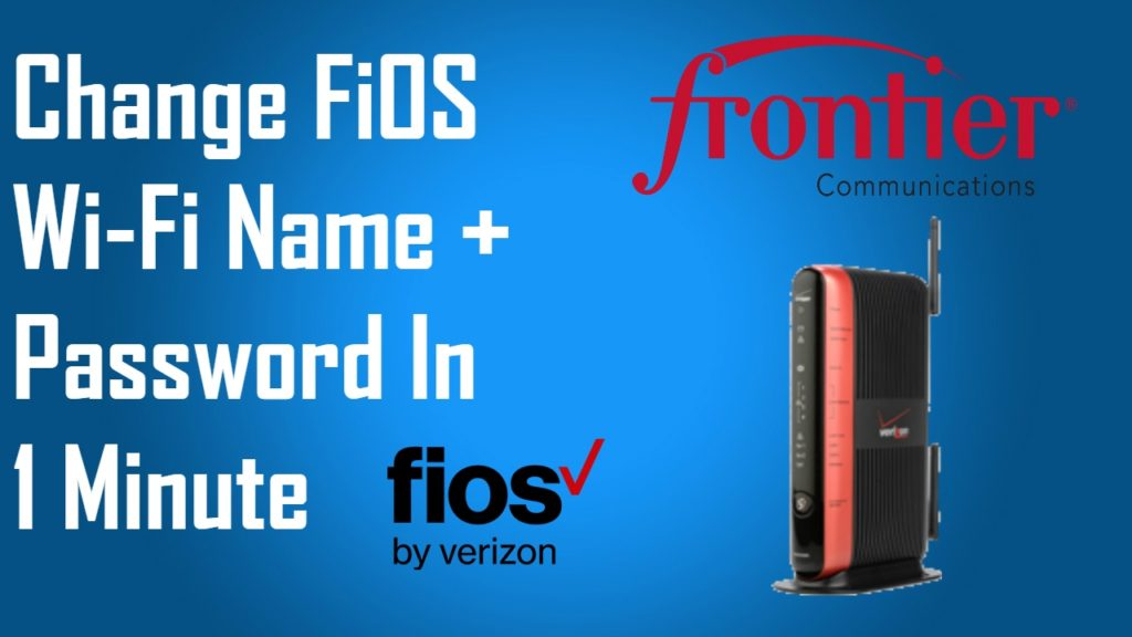 change WiFi extender name and password Fios